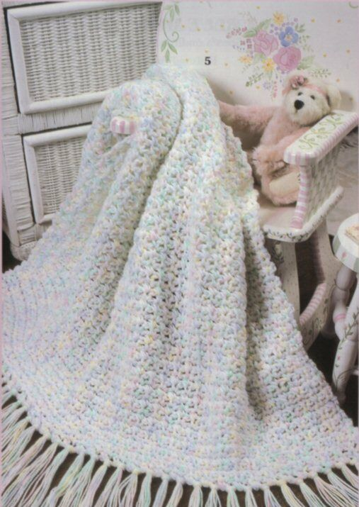 Crochet Blanket Patterns Quick : Baby Afghans 5 CROCHET PATTERNS AFGHAN PATTERN BLANKET Quick & Easy 2 ...