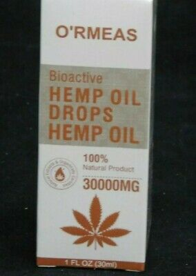 O'RMEAS - Bioactive Hemp Oil Drops - 100% Natural Product - 1 Fl Oz