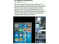 IPhone 4 jailbroken read info on picture