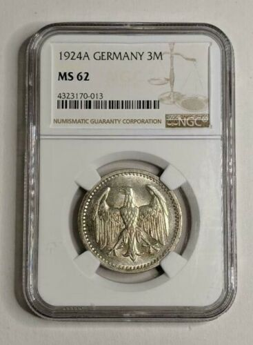 1924A Germany Silver 3M NGC MS62