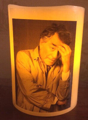 COLUMBO Peter Falk ELECTRONIC FLICKERING CANDLE flameless VINTAGE DETECTIVE