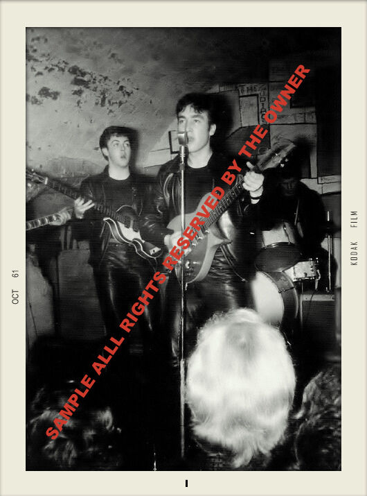 THE BEATLES EARLY COLLECTION OF 2 SNAPSHOTS 1961-62 CLUBS-STUDIO LEATHER