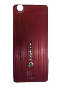 Sony Ericsson J105i Naite Cellphone Battery Door Back Housing Cover Red Wine OEM