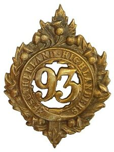 VICTORIAN-93RD-ARGYLL-AND-SUTHERLAND-GLENGARRY-BADGE