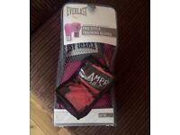 Pink Boxing Gloves & Wrist Wraps (pink)