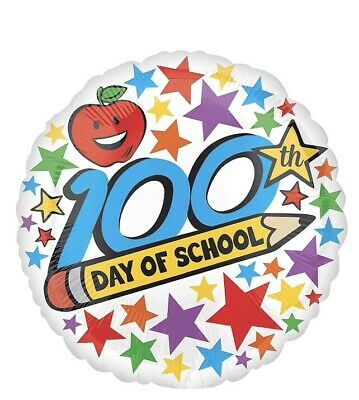 100th Day Of School Foil Balloon Pack Of - Pack Of 100 Balloons