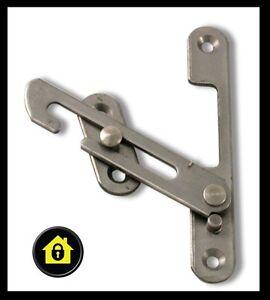 Upvc hook window restrictor child lock restrictor safety for Entrebailleur fenetre sans percer