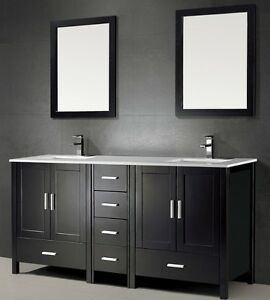 ⎷⎛Contemporary Bathroom Vanity & Cabinet Urban Flare UF72D