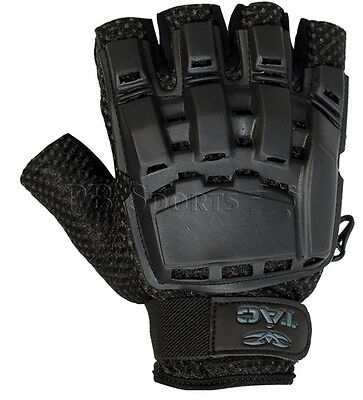 Valken V-Tac Black Tactical Half Finger Paintball Gloves X-Large XL 2XL XX-Large