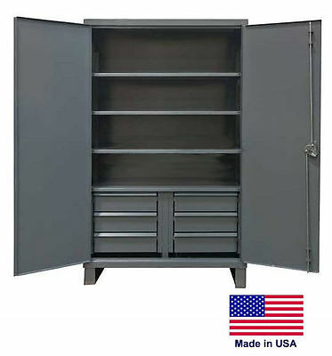 Steel Cabinet Commercialindustrial - Shelves Drawers 46 - 78 H X 24 D X 48 W