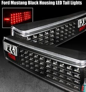 BRAND NEW 1988 - 1993 FORD MUSTANG FOX BODY LED TAIL LIGHTS