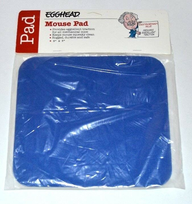 New Mouse Pad Blue For Optical Trackball Mouse Mice 8 x 9 In