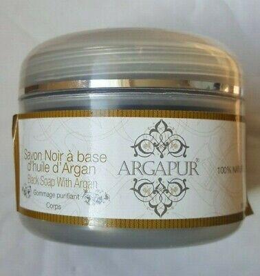 Argapur Premium Moroccan Argan Oil Black Soap Beldi Savon Noir Hammam Spa 200g