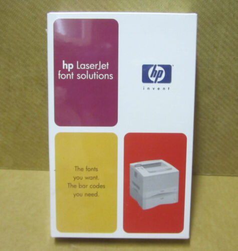 HP LaserJet Font Solutions BARCODE 3 OF 9 BITMAPPED DIMM 36596C #0W1  NEW SEALED