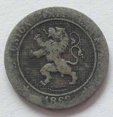 5 Centimes, 1862, FR, Copper-nickel, KM:21 Belgique Belgïe Leopold I Cents
