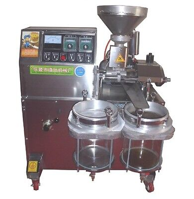Automatic Cold Oil Seed Screw Press Machine Oil Production 30KG/H Shipped By Sea