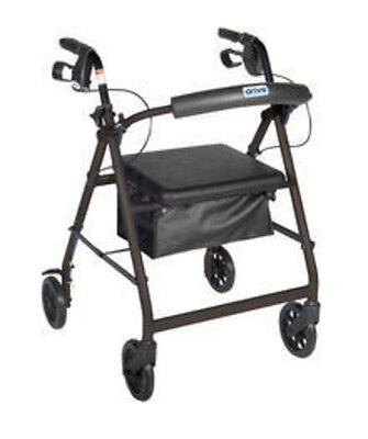 Drive Medical Rollator W/Fold Up & Removable Back Support & Padded Seat r726bk