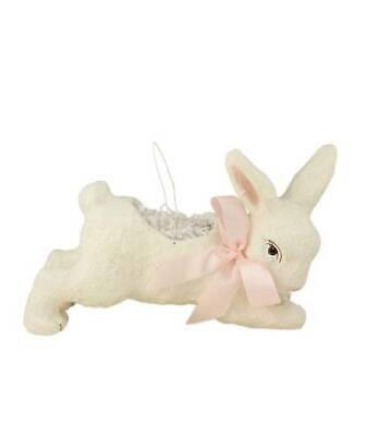 Bethany Lowe Ivory Running Bunny Bucket Easter Bucket Decorations TP5242](Easter Bucket)