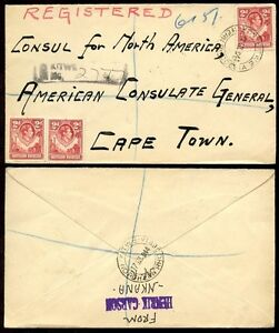 NORTHERN-RHODESIA-1944-REGISTERED-COVER-to-AMERICAN-CONSULATE-CAPE-TOWN