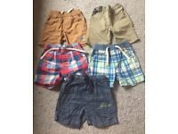 5 pairs of Next Shorts - 12-18 months