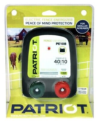 Patriot Pe10b Battery Electric Fence Charger Energizer - 10 Miles 40 Acres