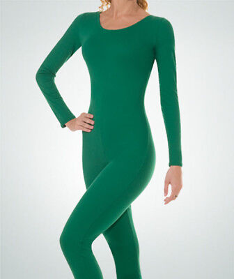 Body Wrappers MT217 Adult Large 12-14 Kelly Green Full Body Long Sleeve - Full Body Unitard