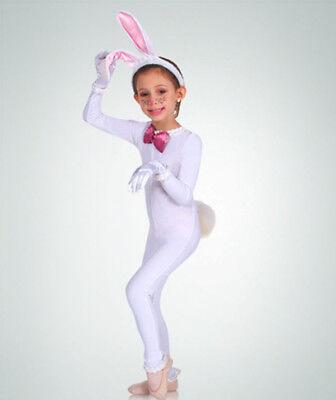 Body Wrappers 117 Child Size Toddler (3-4) White Full Body Long Sleeve - Full Body Unitard