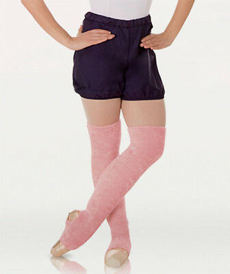 """Body Wrappers 198 Adult 22"""" Theatrical Pink Stirrup Bouclé Leg Warmers (One SZ)"""