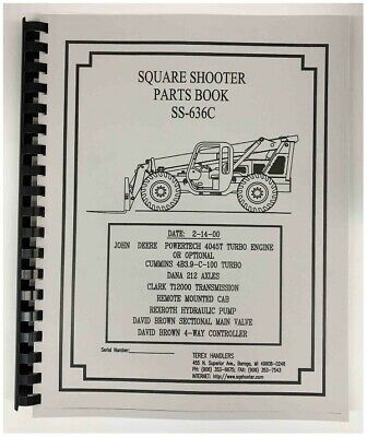Terex Ss-636c Extendo Boom Square Shooter Forklift Parts Manual