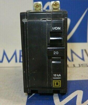 Qob220 Square D Breaker Qob 2 Pole 20 Amp Bolt On 120240v - 50 In Stock
