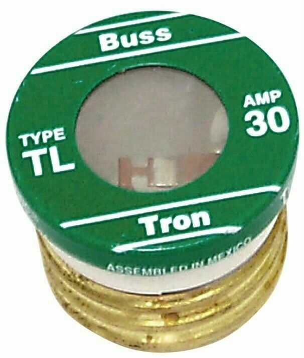 Cooper Bussmann TL-30PK4 30 Amp Screw In Base Plug Fuse - Lot of 16