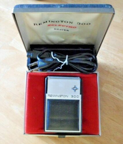 Vintage Remington 300 Electric Razor Selectro Shaver Original Case Cord Works