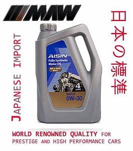 AISIN F/SYN 4LTR 0W-30 0W-40 P&E Discounted Premium Quality Motor Mitcham Whitehorse Area Preview
