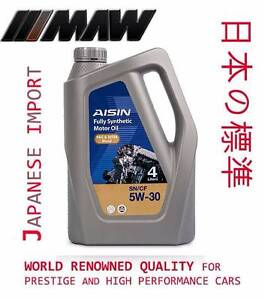 AISIN F/SYN 4LTR 5W-30 5W-40 P&E Discounted Premium Quality Motor Mitcham Whitehorse Area Preview