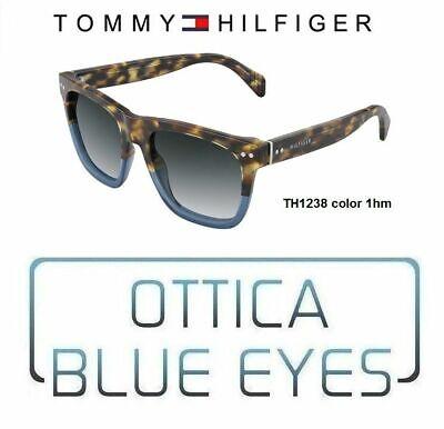 TOMMY HILFIGER Occhiali da Sole SUNGLASSES Man TH1238 Wayfarer Bicolor Havana