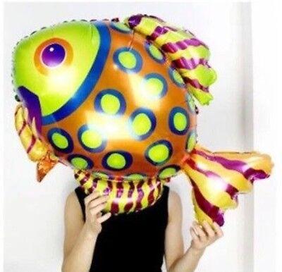 Large Fish Balloon Foil Mylar Birthday Party 36