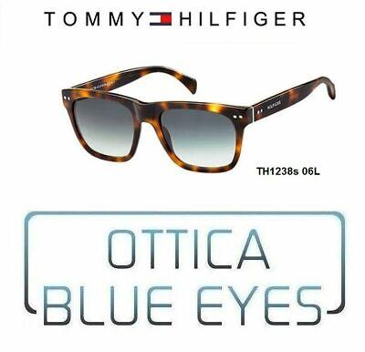 TOMMY HILFIGER Occhiali da Sole SUNGLASSES Man Lux TH1238 Wayfarer Style Havana