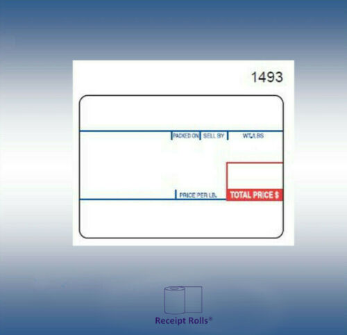 Scale Labels for Cas LP-1000 LST/8010 UPC , 58mm x 40mm - 12 rolls of 700 labels