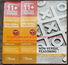 11 Plus / grammar school exam test packs and books - NVR, Maths and VR