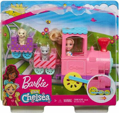 Barbie Club Chelsea Doll And Choo-choo Train Playset with Pet Dog & Cat