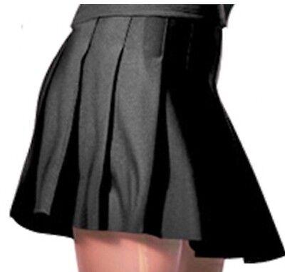 NWOT Alleson Knife Pleat Cheerleader Uniform Skirt Youth Girl Black Small