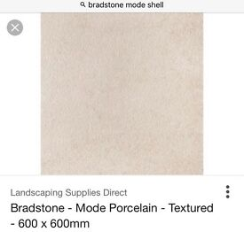 24 Brand New Bradstone Mode Porcelain Paving Slabs in colour 'Shell'. 600mm x 600mm