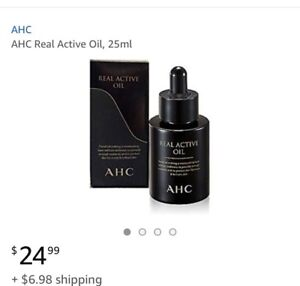 K-Beauty AHC Real Active Oil 25ml Anti-aging skin care Korean