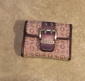 Small Pink Guess Wallet