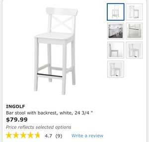 2 Brand New Ingolf Chairs- IKEA