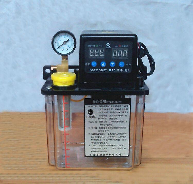 110V 1.5L Dual Digital Display Oiler NC Pump Automatic Lubrication Pump 6mm