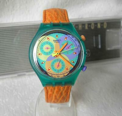 NEW - SWATCH - SCL102 - Sound  - 1993 - Chrono Coll - Swiss Analog Watch