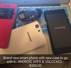 BRAND NEW DOOGEE ANDROID