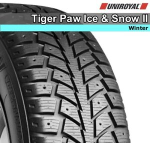 Uniroyal Tiger Paw Ice and Snow Tires, lightly used