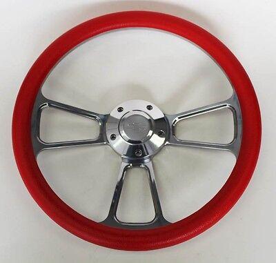 Chevy Bel Air Billet - 55 56 Chevy Bel Air Red and Billet Steering Wheel 14
